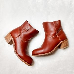 Red Wing Shoes Pull On Leather Ankle Booties